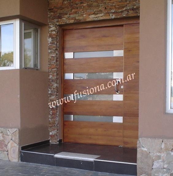 Modelos de puertas entrada modernas madera maciza diseos - Puertas de entrada modernas ...